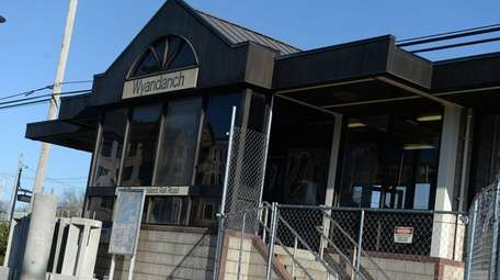 The Wyandanch Long Island Rail Road train station.