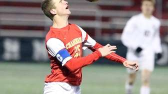 Chaminade's Kevin Lynch controls the ball just outside