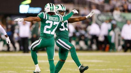 Jets cornerback Darryl Roberts and strong safety Jamal