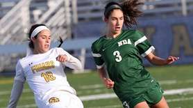 St. Anthony's Brianna Passaro shoots around Notre Dame's