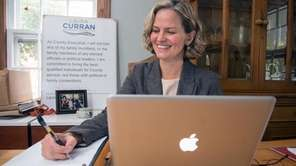 Nassau County Executive Elect Laura Curran relaxes at