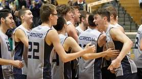 Eastport-South Manor reacts to its win over Massapequa