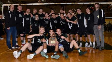 Bellmore JFK celebrates after beatting Hauppauge in the