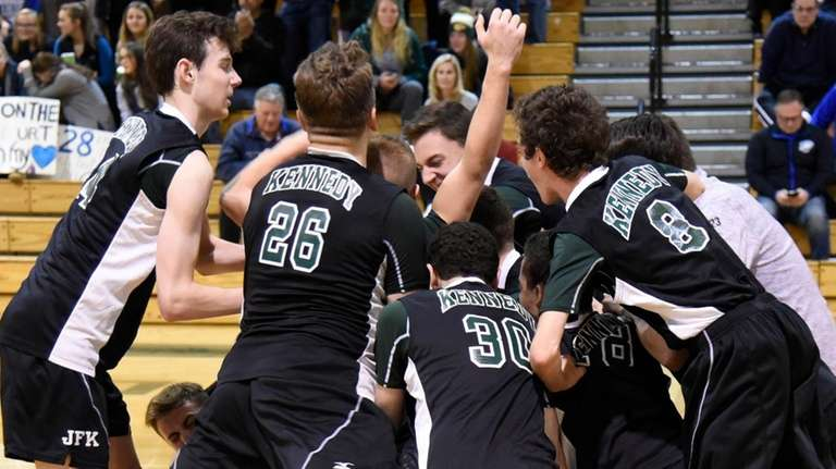 Bellmore JFK reacts after beating Hauppauge in the