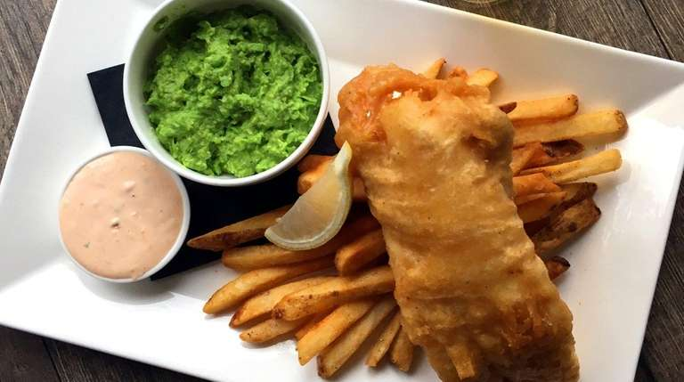 Fish and chips is among the dishes at