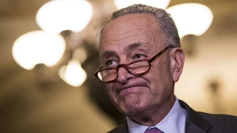 Senate Minority Leader Chuck Schumer, seen here on