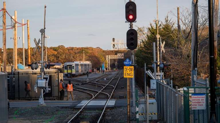 The Speonk LIRR station on Sunday, Nov. 12,