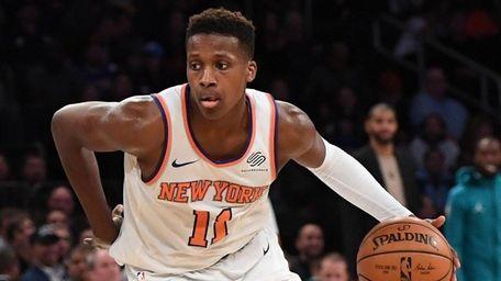 Rookie Frank Ntilikina was the Knicks' first-round pick,