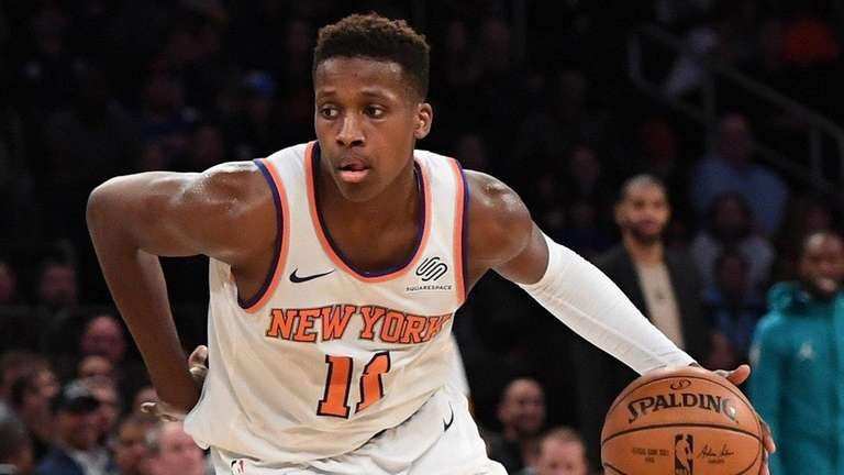 Rookie Frank Ntilikina was the Knicks' first-round pick,