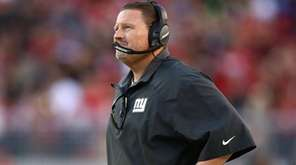 Ben McAdoo of the Giants looks on against