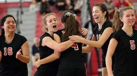 Pierson / Bridgehampton's girls volleyball team after winning