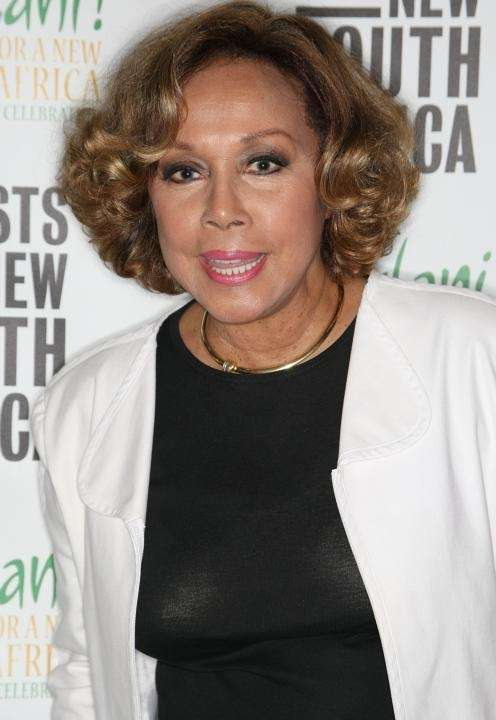 Actress Diahann Carroll, most famously appearing in TV