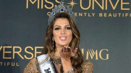 Miss Universe Iris Mittenaere of France appears during