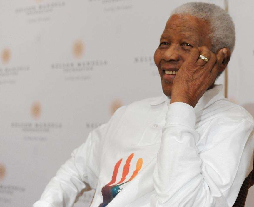 Nelson Mandela, humanitarian and former South African president,