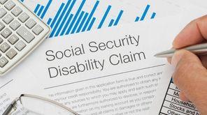 Social Security Disability claim form.