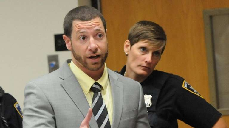 David Newbeck, in court in Riverhead on Monday,