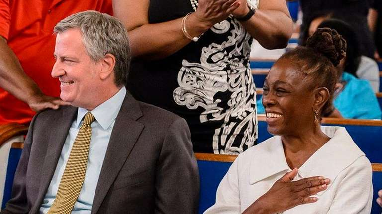 Mayor Bill de Blasio and wife Chirlane McCray