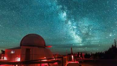 The Milky Way gets showy at the Mont-Megantic