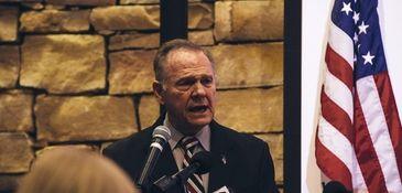Republican candidate for U.S. Senate Roy Moore speaks