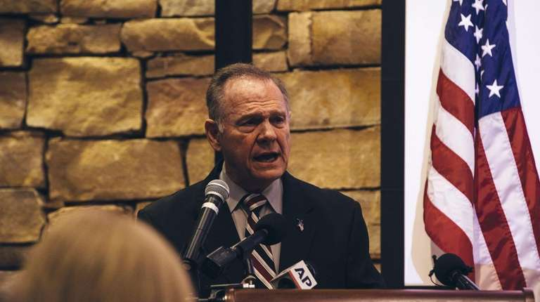 Republican candidate for U.S. Senate Roy Moore speaks