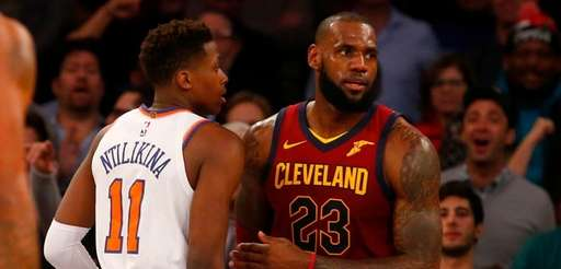 LeBron James of the Cavaliers said he didn't