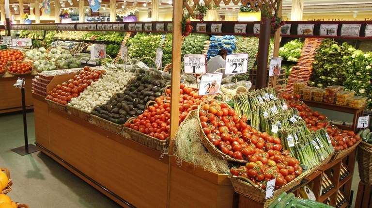 Fresh produce at Uncle Giuseppe's Marketplace in Smithtown.