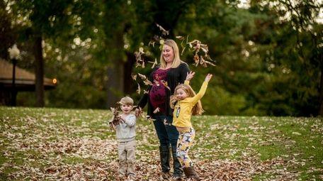 Jennifer Maier, with her children Camden, 3, and