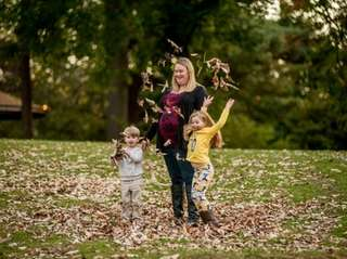 Jennifer Maier, with her children Camden, 3, and