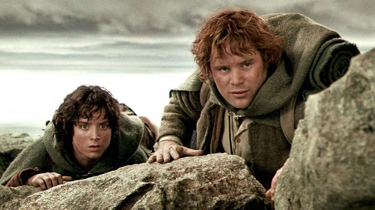Elijah Wood, left, starred as Frodo, and Sean