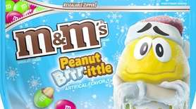 Available only at Target, Peanut Brrr-ittle M&M's are