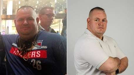 Andrew Quinn, 33, of Shirley, is pictured when