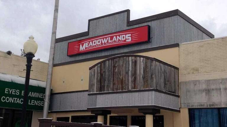 Meadowlands Sports Bar and Restaurant has closed in