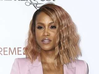 Rapper Eve attends the LA premiere of