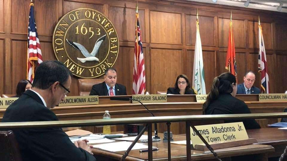 Oyster Bay Town Supervisor Joseph Saladino announced at