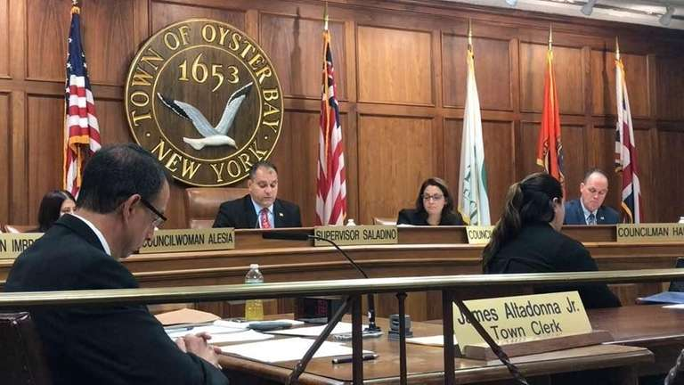 Oyster Bay Town Supervisor Joseph Saladino announced at