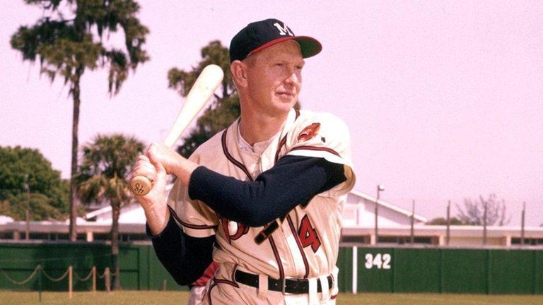 Milwaukee Braves' shortstop Red Schoendienst in 1958.