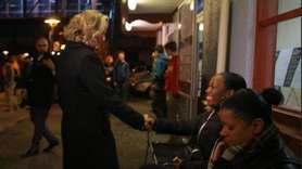 County Executive-elect Laura Curran thanked voters at the Mineola