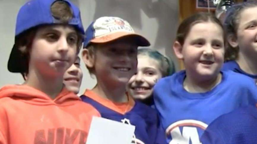 New York Islanders John Tavares, Jordan Eberle and