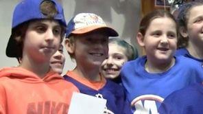 New York Islanders John Tavares, Jordan Eberle and