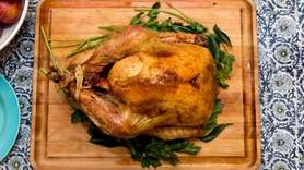A turkey that Pervaiz Shallwani cooked at his