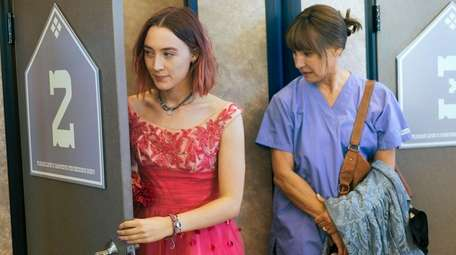 Laurie Metcalf, right, and Saoirse Ronan play mother