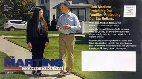 One side of a campaign mailer sponsored by