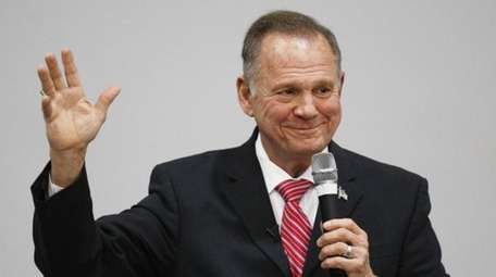 U.S. Senate candidate Roy Moore speaks at a
