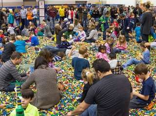 A recent Lego event draws parents and kids.