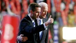 Beau Biden with his father, Joe Biden, in