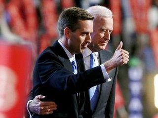 Beau Biden with his father, Joe Biden, in
