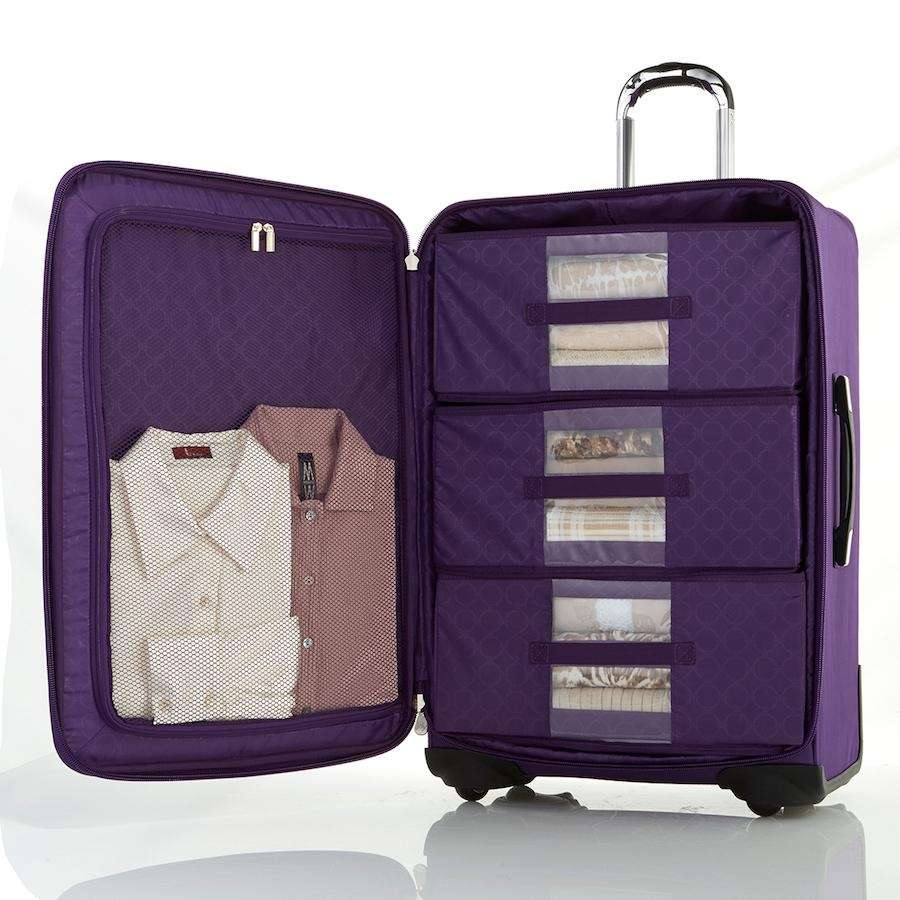 The upright lightweight TuffTech luggage dresser with SpinBall