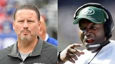 Giants coach Ben McAdoo and Jets coach Todd