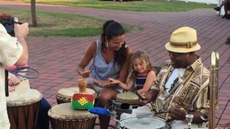 Drummer Napoleon Revels-Bey has made teaching children about