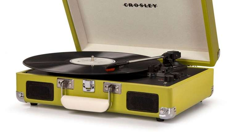 Crosley Cruiser Deluxe portable turntable, $49.99 available at